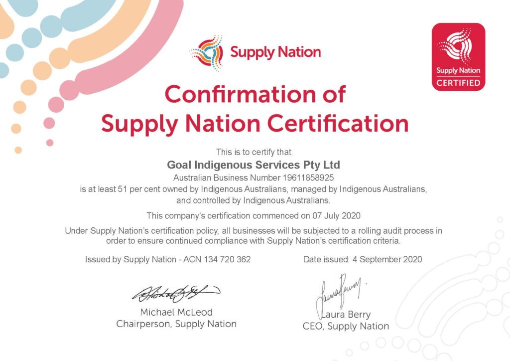 Supply Nation Certified 1